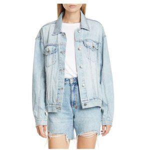 KSUBI Oversized Karma denim Jean Jacket Faded Wash